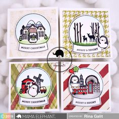 mama elephant | design blog: INTRODUCING: Snow Globe Scenes