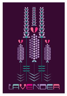 Another graphic floral. Might regret the dark background when it comes to ink usage! https://www.etsy.com/uk/listing/218059555/the-lavender-patch-digital-print-297-x?ref=shop_home_active_1