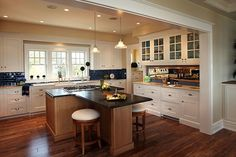 Houzz Home Design Kitchen | Wish list-tile that looks like wood.