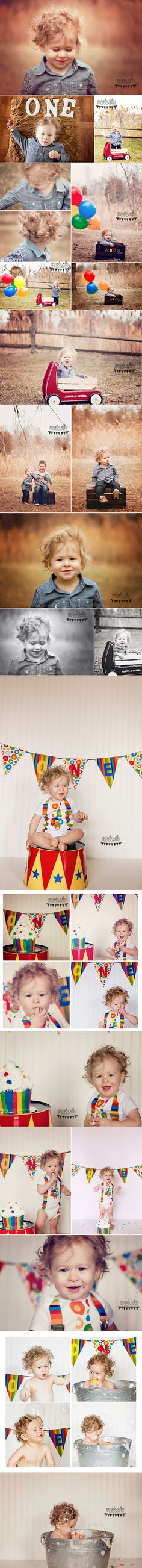 Marsida Salku Photography ~ Windsor Ontario Photographer. circus themed cake smash. First birthday cake smash. Little boy cake smash and bubble bath.  first birthday bubble bath