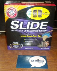 #freesample #armandhammerslide This slide litter works great and my cat has stopped peeing on everything she come across. Its easy to scoop, easy to dump and got rid of the odor from her peeing spree.