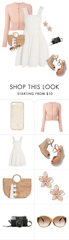 """""""Untitled #1090"""" by buzzbee-585 ❤ liked on Polyvore featuring N.Peal, Maje, Schutz, JADE TRIBE, NAKAMOL and Louis Vuitton"""