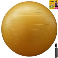 Fitness Ball: Yellow, 22in/55cm Diameter, Includes 1 Ball +1 Pump + 1 Page Instruction Chart. No instructional DVD. (Exercise Gym Swiss Stability Ball) - [Available From Amazon(UK & Ireland)] - Gym Ball Load Ratings: Static Load Capacity:   550 lbs / 250 kg Dynamic Load Capacity: 450 lbs / 200 kg  Size Chart (Ball Diameter> User Height): 45cm/18in> 5'0″/152cm55cm/22in> 5'1″ – 5'6″/155 -167cm 65cm/26in> 5'7″ &#8