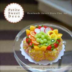 Miniatura Nutty Fruta clasificada Bizcocho Imán - Flor en forma - Faux Alimentos - Miniatura Dollhouse - Petite dulce de Deco