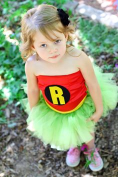 For Diddle if C wants to be Batman....Robin girl tutu outfit Inspired by Marvel by EnchantedFairyLand, $60.00