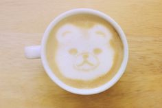 Check out Bear latte art coffee cup by Nuchylee Photo on Creative Market