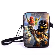 Minions Ninja Mini Messenger Bag Children Cute Animal Dog Cat Horse Printing School Bags Boys Kids book Bag for Snack Best Gift