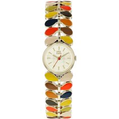 This ultra-slim ladies Orla Kiely Ivy Mesh watch is made from PVD gold plated and is fitted with a quartz movement. It is fitted with a multicolour metal bracelet and has a cream dial. MPN: OK4060. Type: Watches.   eBay!