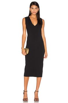 TY-LR The Odessa Fitted Dress in Black