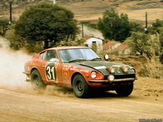 Datsun 240Z, Shekhar Mehta/Mike Doughty, 2nd overall in the East African Safari Rally, 1971
