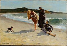 Winslow Homer (American, 1836–1910). Eagle Head, Manchester, Massachusetts (High Tide), 1870. The Metropolitan Museum of Art, New York. Gift of Mrs. William F. Milton, 1923 (23.77.2) #dogs