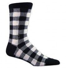Black and white plaid socks