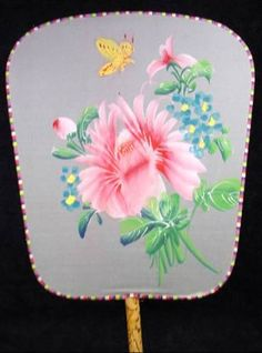 Old Hand Painted Silk Fan. More , 5 to make flower wall decor