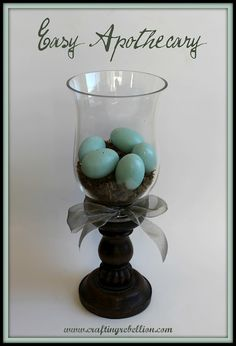 Easy to make pedestal displays gluing inexpensive hurricanes onto candlesticks