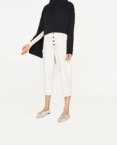 Image 2 of JOIN LIFE PEG-LEG TROUSERS from Zara