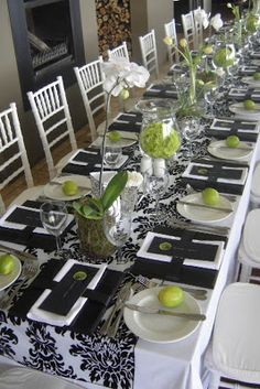 Lime Green And Black Wedding Theme