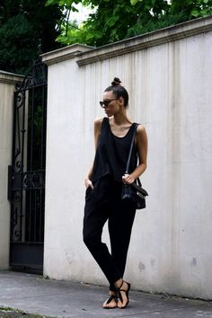 Modern Legacy fashion blog Australian Zimmermann silk tank Flip Side pant Proenza Schouler PS11 Karen Walker Number One Crazy Tort sunglasses ATP leather sandals top knot summer hair outfit post photo by KaityH88 | Photobucket