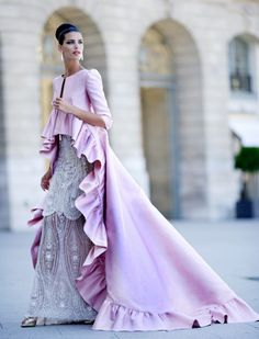 The detail on this beautiful dress is truly exquisite, as is this wonderful flirty tail hemmed coat