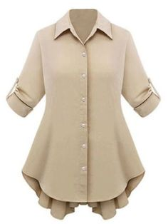 Buy Polo Collar Bowknot Plain Plus Size Blouse online with cheap prices and discover fashion Plus Size Tops at Fashionmia.com.