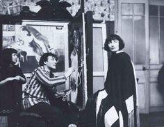 hérèse BONNEY [Mabel Bonney, dite] (1894-1978). Marc Chagall dans son atelier, avec Bella et leur fille Ida. 1925