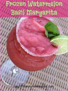 Frozen Watermelon Basil Margarita