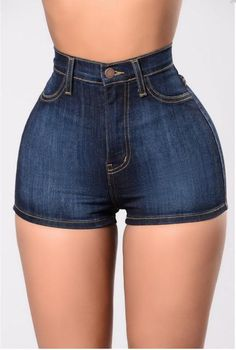 Allonly Womens Fashion High Waisted Skinny Fit Stretch Denim Jean Shorts Hot Pants ** Click image for more details. (This is an affiliate link) Sexy Shorts, Denim Shorts, Short Shorts, Blue Shorts, Short Jeans, Hot Pants, Buy Jeans Online, Jeans For Short Women, Short En Jean