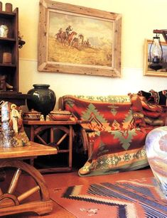Interior Decorations of Southwestern Style Homes - Western Home Decor Living Room Southwest Style, Southwestern Home Decor, Southwestern Decorating, Western Style, Rustic Western Decor, My Living Room, Living Room Decor, Westerns, Up House