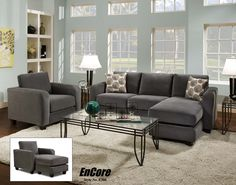 Simpson Charcoal Sectional