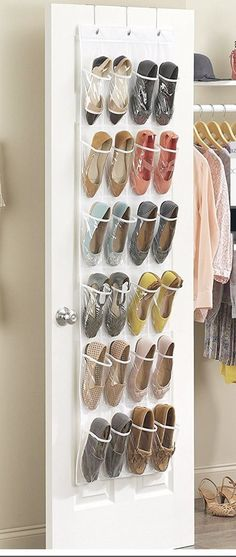 I M Using This To My Yarn Stash All The Spots Are Full Seems Very Sy Closetware Clear Over Door 26 Pocket Shoe Organiz