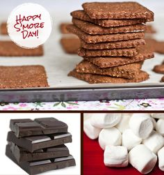 #vegan s'mores recipe for National S'mores Day!