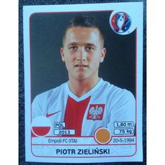 Football Soccer Sticker Panini UEFA Euro 2016 #308 Poland