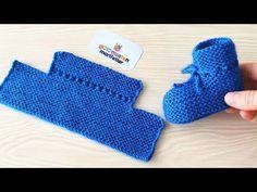 Knitting very easy newborn baby booties socks handmade / Knit Baby socks models - Stricken Baby Booties Knitting Pattern, Booties Crochet, Crochet Baby Shoes, Crochet Baby Booties, Baby Knitting Patterns, Baby Patterns, Knitted Baby, Stitch Patterns, Easy Knitting