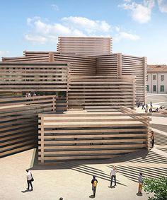 kengo kuma's interlocking volumes to become a modern art museum in turkey