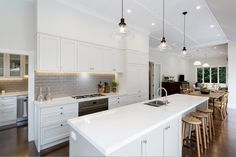 Shane George designed this new kitchen in a traditional Mt Eden villa to complement the era of the house.