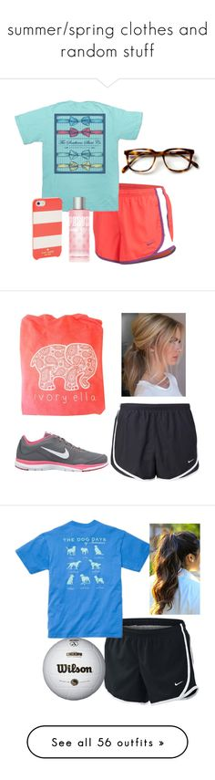 """summer/spring clothes and random stuff"" by ava-navarrrroo ❤ liked on Polyvore featuring NIKE, Victoria's Secret, Kate Spade, Ivory Ella, Southern Proper, American Eagle Outfitters, Chaco, naturallybeautiful, Jack Rogers and J.Crew"
