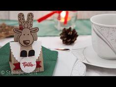 """Tischdeko """"Rentier auf dem Dach"""" für Ferrero Rocher etc. mit Produkten v..."""