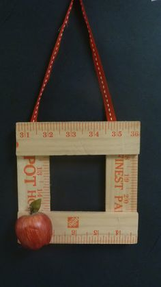 Student picture frame made from Home Depot yard sticks (Tunstall's Teaching Tidbits)