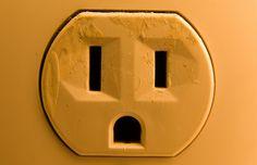 face in a plug
