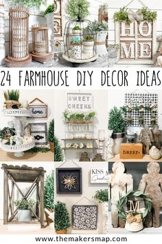 Country Farmhouse Decor, Farmhouse Design, Dollar Tree Decor, Thrift Store Crafts, Craft Stick Crafts, Decor Styles, Ladder Decor, Diy Home Decor, Diys