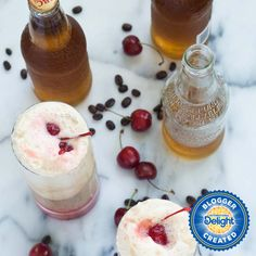 Vanilla and Salted Caramel Floats? We can't think of a better Sunday treat. Fun Drinks, Cold Drinks, International Delight Iced Coffee, Snack Recipes, Snacks, Paula Deen, Non Alcoholic, Coffee Recipes, Comfort Foods
