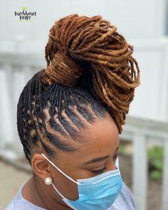 Dreadlock Styles, Dreads Styles, Curly Hair Styles, Natural Hair Styles, Short Locs Hairstyles, African Hairstyles, Pretty Hairstyles, Hairstyle Ideas, Amber Hair