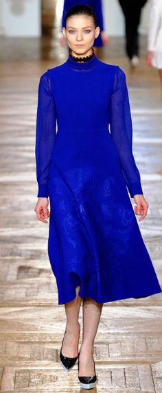 cobalt blue- Kati Nescher for Stella McCartney Spring 2013