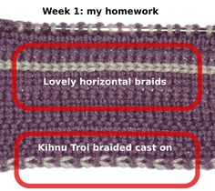 Horizontal Braids and Kihnu Troi braided CO