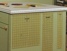 Why didn't I think of this one? What a great way to hang my rotary rulers - on the side of a cabinet.
