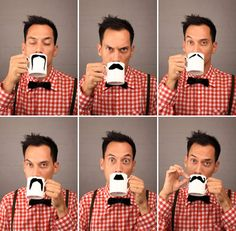 Peter Bruegger: Moustache Mugs