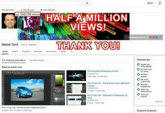 Thank you for watching my videos. Half a million views...