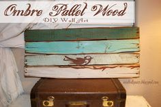 I love to play with pallet wood and paint. Come see how to put together a cute and easy piece. Plus it includes an alternative to using wood stain that is cheap and easy to do. Wood Pallets, Pallet Wood, Pallet Signs, Diy Pallet, Rustic Wood Signs, Wooden Signs, Pallett Wall, Pallet Crafts, Pallet Projects
