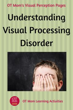 Find out more about what a visual processing disorder is and how it can affect your child. Visual Motor Activities, Visual Perception Activities, Sensory Therapy, Therapy Activities, Sensory Activities, Autism Sensory, Sensory Rooms, Sensory Issues