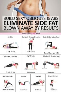 Best Exercise to Eliminate Side Fat and Build Sexy Obliques & Abs! Youll be Blown Away b - Fitness Plans - Ideas of Fitness Plans - Exercise Abs workout Strength training workout Fitness Workouts, Side Workouts, Side Fat Workout, Fitness Workout For Women, Strength Training Workouts, At Home Workout Plan, Sport Fitness, Body Fitness, Health Fitness