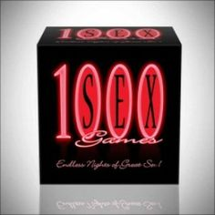 1000 SEX GAMES 1000 sex games – even if you play a game every day, it would be more than three years before you play the same game again. Add playful spiciness to your love making with 1000 sex games. Cards have categories like Foreplay, Plot Twist, Passion, Sex, Absolute Indulgence Plus and come with a detailed instructions list.